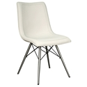 Blake Mid-Century Modern Cream Dining Chair