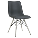 Blake Mid-Century Modern Gray Dining Chair