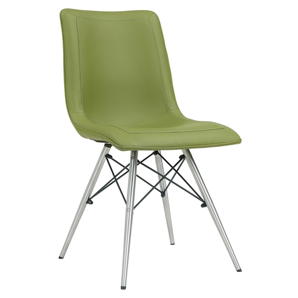 Blake Mid-Century Modern Green Dining Chair