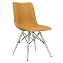Blake Mid-Century Modern Tan Dining Chair