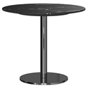 Modloft Bleecker Black Marble Round Modern Side Table