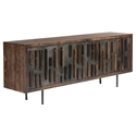 Blok Seared Oak + Black Washed Oak + Black Cast Iron Rustic Modern Sideboard + TV Stand