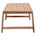 Blondie Solid Teak Wood Contemporary Outdoor Coffee Table