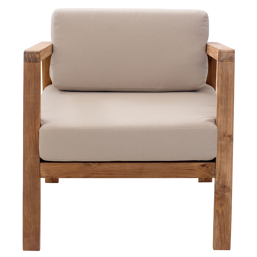 Modern outdoor lounge chair -  Blondie Beige Contemporary Outdoor Lounge Chair