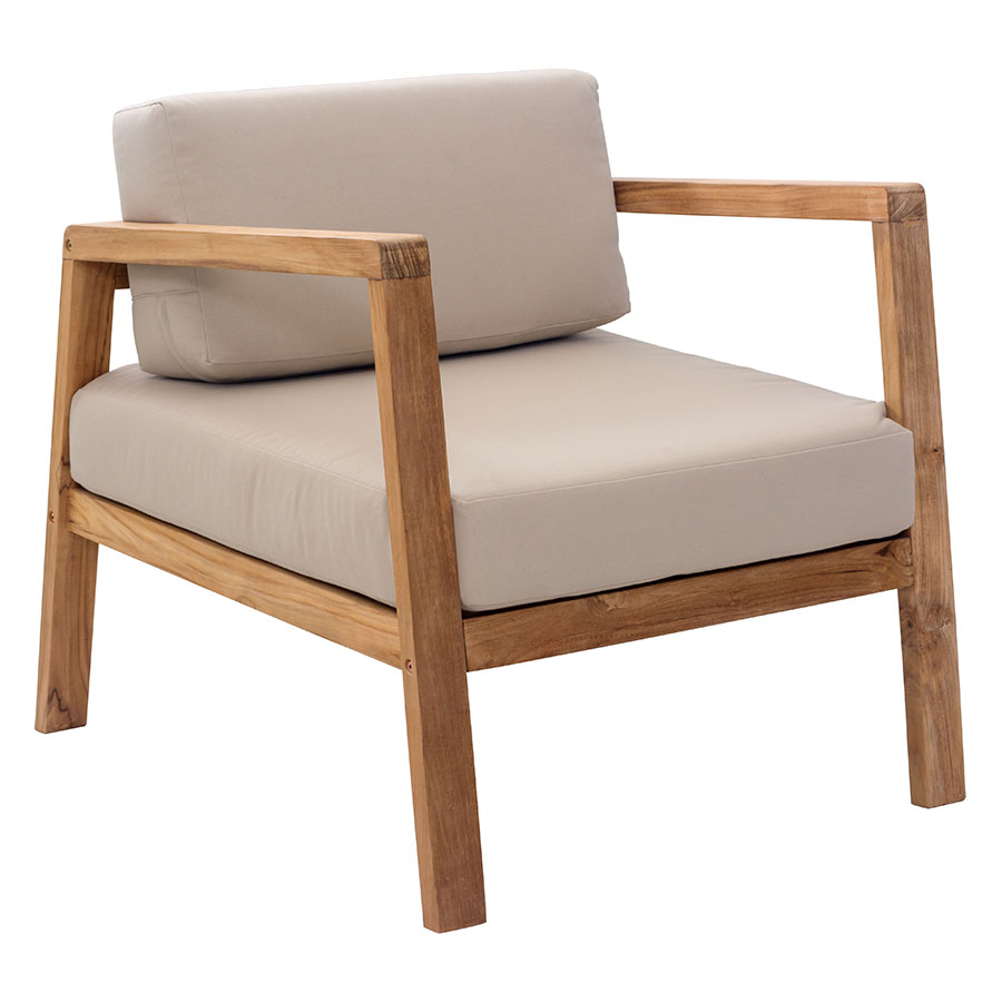 Modern outdoor lounge chair - Blondie Beige Modern Outdoor Lounge Chair