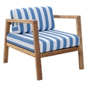 Blondie Striped Modern Outdoor Lounge Chair
