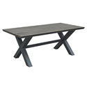 Boaz Faux Wood + Aluminum Modern Outdoor Dining Table