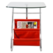 Bob Red Contemporary Side Table With Magazine Rack