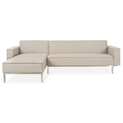 Gus* Modern Bolton Multi-Sectional Sofa in Leaside Driftwood
