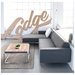 Bolton Multi-Sectional Contemporary Sofa in Varsity Charcoal - Lifestyle Side