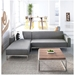 Bolton Multi-Sectional Contemporary Sofa in Varsity Charcoal - Lifestyle
