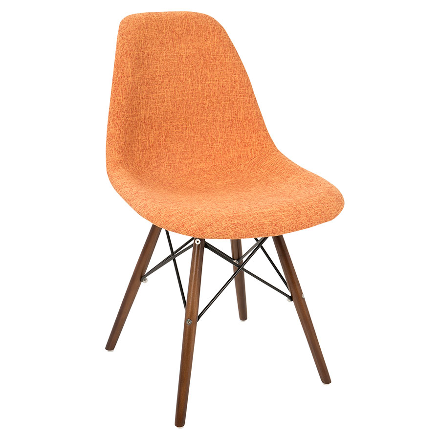 Bora Modern Orange Gray Side Chair Eurway Furniture