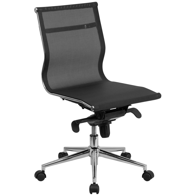 Armless Office Chairs boston modern mesh armless office chair | eurway