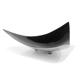 Botta Modern Decorative Black + Polished Bowl