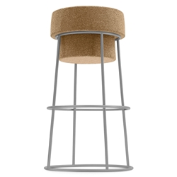 Bouchon-Sgb Satin Modern Counter Stool by Domitalia