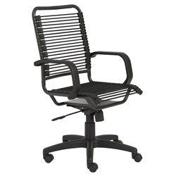 Baxter Modern High Back Black Bungie Office Chair