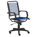 Baxter Modern High Back Blue Bungie Office Chair