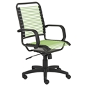 Baxter Modern High Back Green Bungie Office Chair