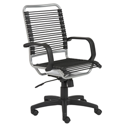 Baxter Modern High Back Silver Bungie Office Chair
