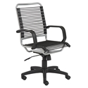 Bradley Modern High Back Silver Bungie Office Chair