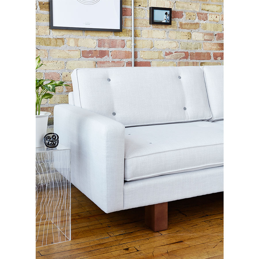 ... Bradley Contemporary Sofa By Gus* Modern In Cambie Parchment ...