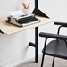 Gus* Modern Branch Desk + Shelving Unit in Black + Blonde Ash with Black Metal Brackets - Lifestyle Image Detail