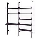 Gus* Modern Branch-2 Desk + Shelving Unit in Black Ash Wood