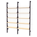 Gus* Modern Branch-2 Shelving Unit in Black + Blonde Ash Wood