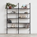 Gus* Modern Branch-2 Shelving Unit in Black - Lifestyle