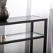 Brandon Contemporary Black Console Table - Top Detail