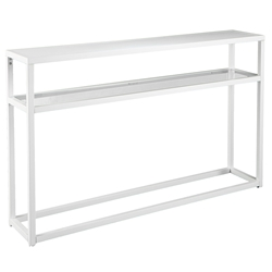 Brandon Modern Black Console TableWhite