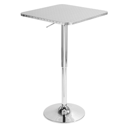 Brandy Modern Adjustable Square Top Bar Table