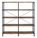 Bravo Modern Double Book Shelf in Antique Nutmeg - Front View