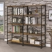 Bravo Modern Double Bookcase in Antique Nutmeg