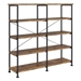Bravo Modern Double Book Shelf in Antique Nutmeg