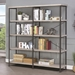 Bravo Modern Double Bookcase in Gray Driftwood