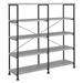 Bravo Modern Double Book Shelf in Gray Driftwood