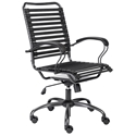 Bravo Executive Flat Bungie Modern Black Office Chair