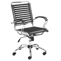 Bravo Executive Flat Bungie Modern Chrome Office Chair