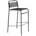 Bravo Modern Black Flat Bungie Bar Stool
