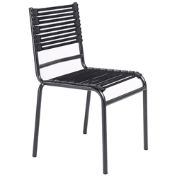 Bungie Modern Black Flat Bungie Stacking Chair