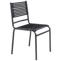 Bravo Modern Black Flat Bungie Stacking Chair