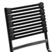 Bravo Modern Black + Chrome Flat Bungie Chair - Detail