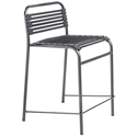 Bravo Modern Black Flat Bungie Counter Stool