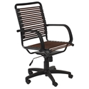 Bungie Flat High Back Modern Brown Office Chair