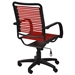 Bravo Flat High Back Red Office Chair - Back View