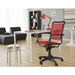Bravo Modern High Back Flat Red Bungie Office Chair