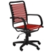 Bungie Flat High Back Modern Red Office Chair