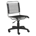 Bravo Low Back Bungie Office Chair in Silver