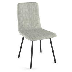 Bray Modern Dining Chair by Amisco in Illusion + Black Coral